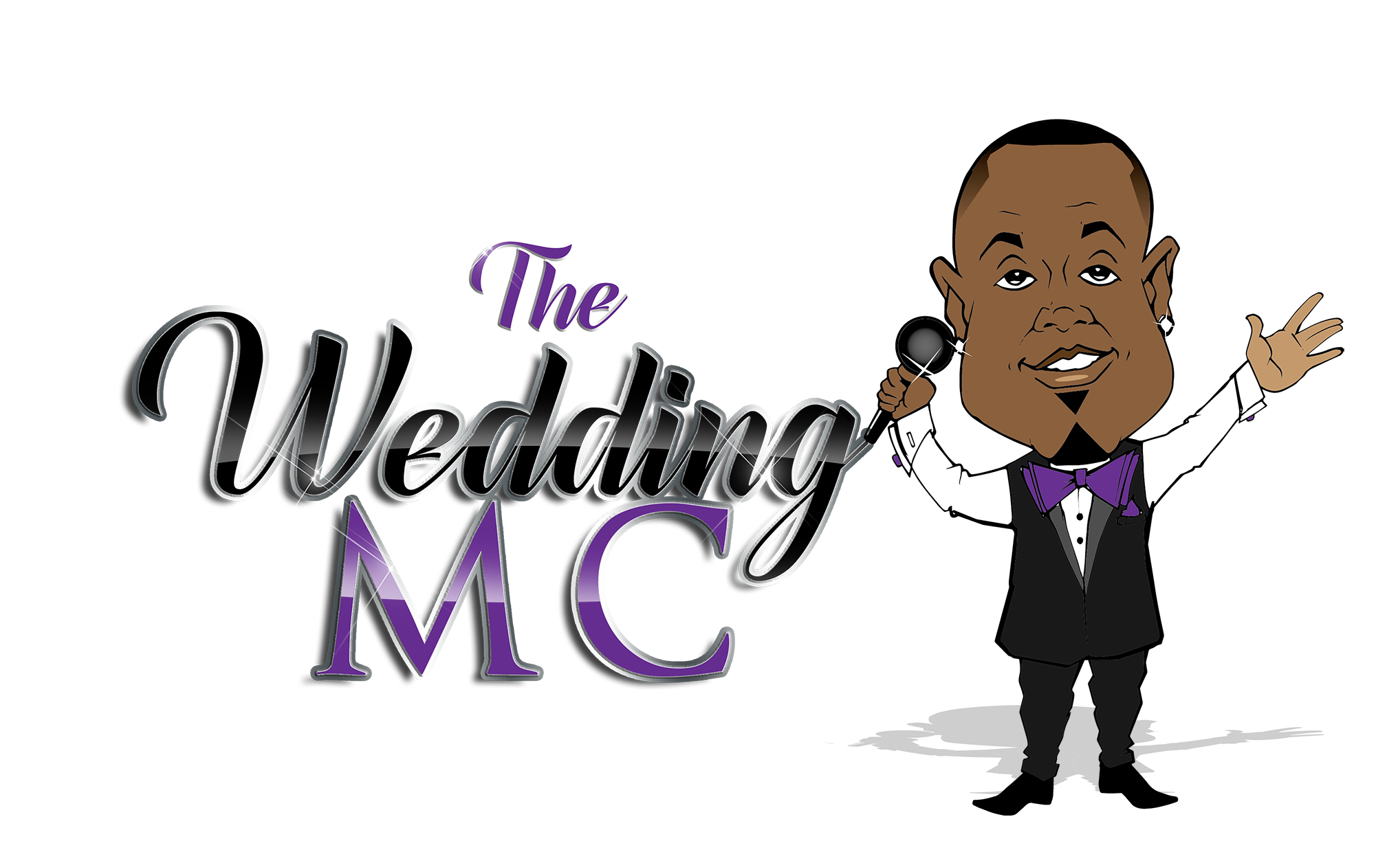 The WeddingMC Man logo.